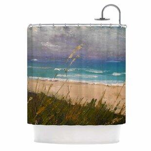 Carol Schiff Florida Beach Scene Coastal Shower Curtain