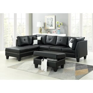 Keytesville Sectional Sofa With Ottoman by Winston Porter #2