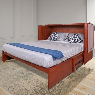 Kaneshiro Storage Murphy Bed with Mattress by Red Barrel Studio