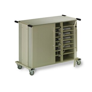 24-Compartment Laptop Storage Cart by Mayline Group