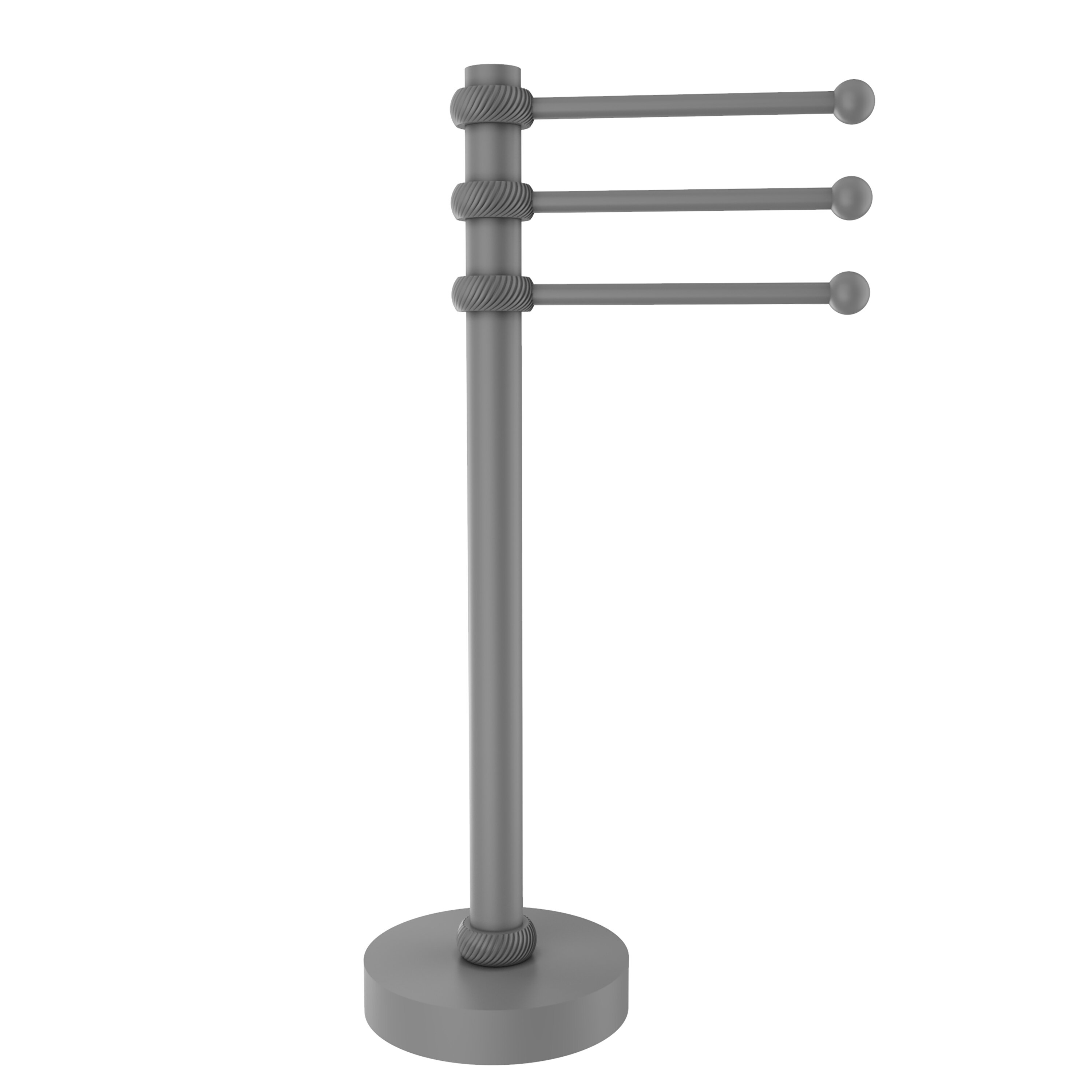 Picture of: Allied Brass 3 Swing Arm Countertop Towel Stand Wayfair