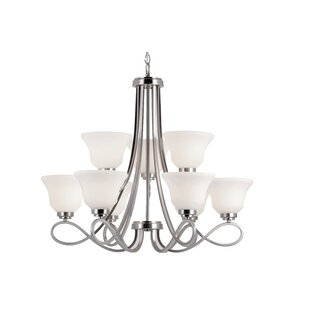 Elkville 9-Light Shaded Chandelier by Red Barrel Studio