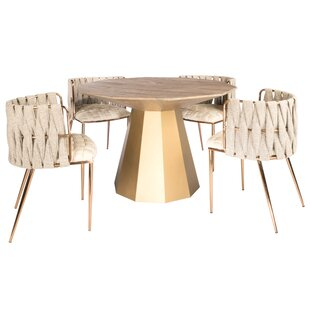 Morpeth 5 Piece Dining Set by Everly Quinn Fresht