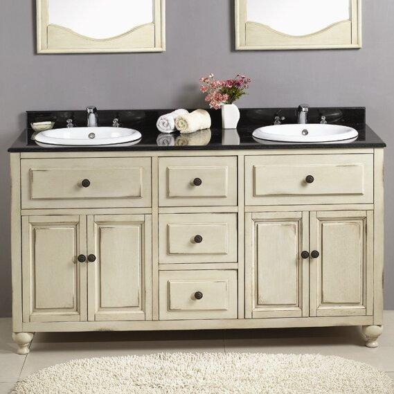 "Bathroom Vanity Sets ove decors birmingham 60"" double bathroom vanity set & reviews"