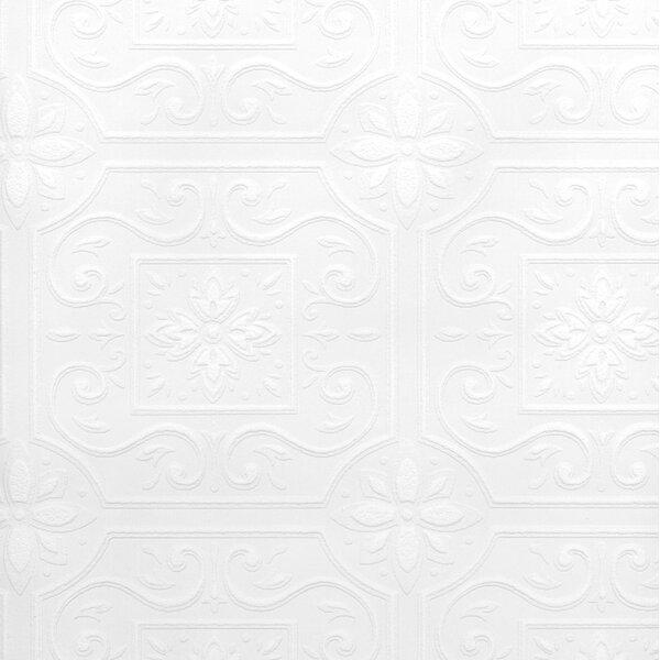 Photo Francina Paintable Tile 33' L x 20.5 W Wallpaper Roll byHouse of Hampton®