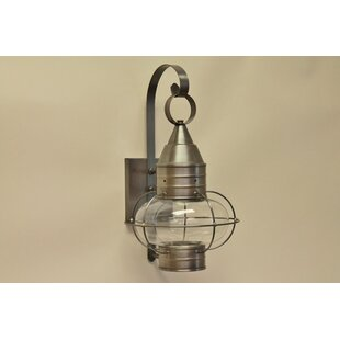 Comparison 600 Series 1-Light Outdoor Wall Lantern By Brass Traditions