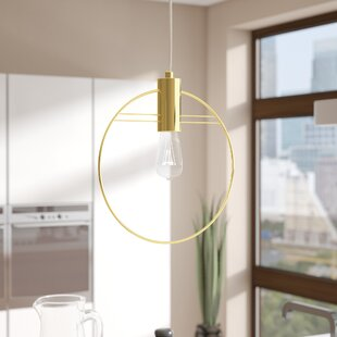 Bracy Metal 1-Light Geometric Pendant by Wrought Studio