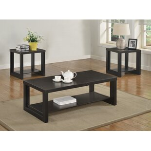 Reviews Audra 3 Piece Coffee Table Set By Crown Mark