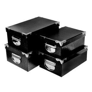 Nesting 4 Piece Faux Leather Box Set