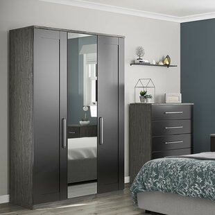 Adlai Centre Mirror 3 Door Wardrobe By Wrought Studio