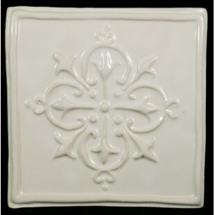 Hesperi 5 75 X Ceramic Decorative Accent Tile In White
