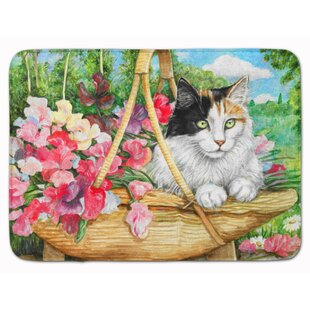 Cat In Basket Memory Foam Bath Rug