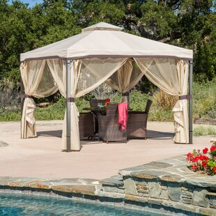 Franz 10 Ft. W x 10 Ft. D Steel Patio Gazebo by Red Barrel Studio