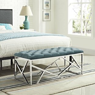 Everly Quinn Colworth Metal and Metal Bench