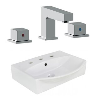 Compare prices Ceramic 19.5 Bathroom Sink with Faucet and Overflow By Royal Purple Bath Kitchen