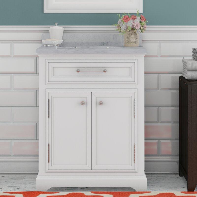 "24 White Bathroom Vanity darby home co colchester 24"" single sink bathroom vanity set"