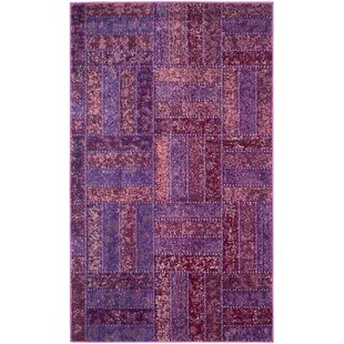 Power Loomed Purple/Burgundy/Green/White Area Rug ByBungalow Rose