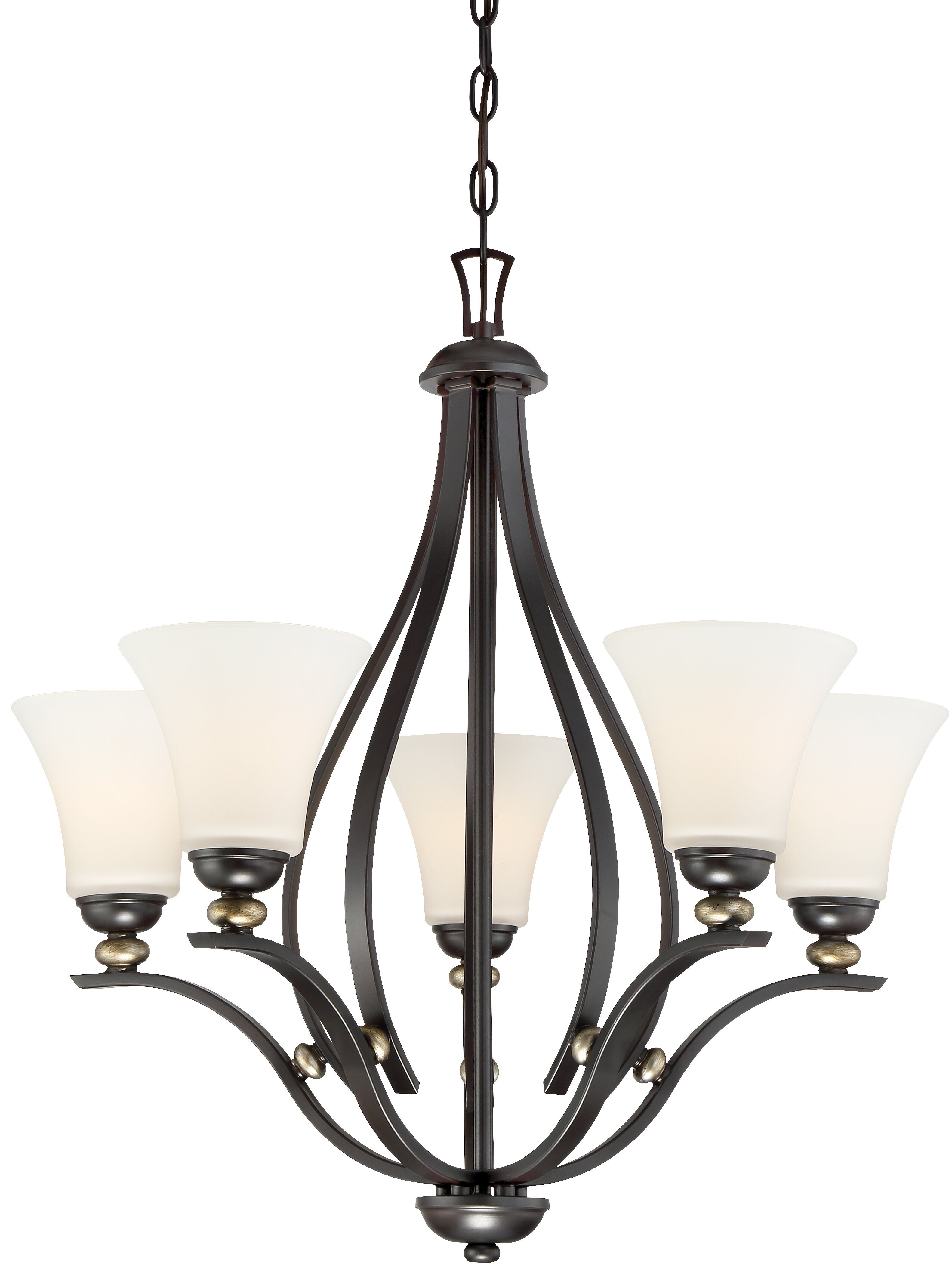 Alcott Hill Stockton 5 Light Shaded Classic Traditional Chandelier Wayfair