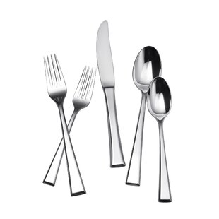 Epoch 65 Piece 18/8 Stainless Steel Flatware Set, Service for 12