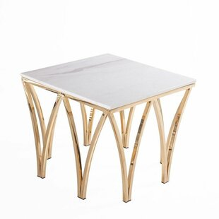 Everly Quinn Skelton End Table