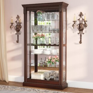 Dunstaffnage Lighted Curio Cabinet by Astoria Grand
