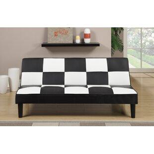 Ebern Designs Chavis Faux Leather Adjustable Convertible Sofa