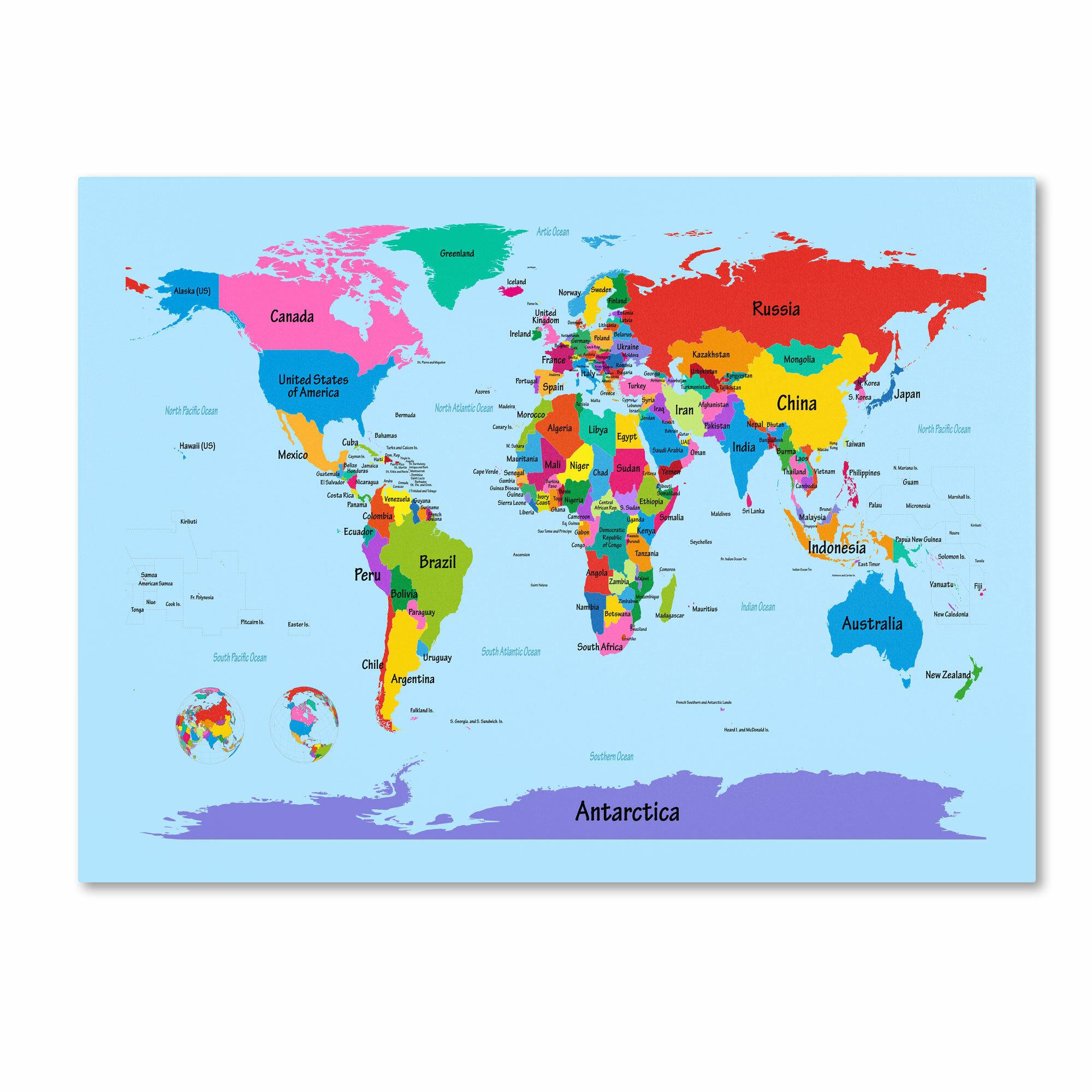 Ebern designs hanish childrens world map framed graphic art on ebern designs hanish childrens world map framed graphic art on wrapped canvas reviews wayfair gumiabroncs Images