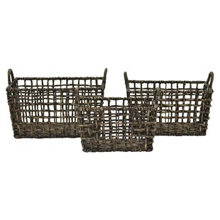 Find for 3 Piece Water Hyacinth Basket Set By Highland Dunes