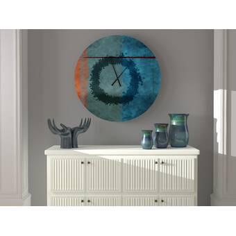 Latitude Run Equable Knowledgeable Abstract Metal Wall Clock Wayfair