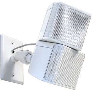 Universal Speaker Wall Ceiling Mount with Electrical Box Installation Adapter Plate in White