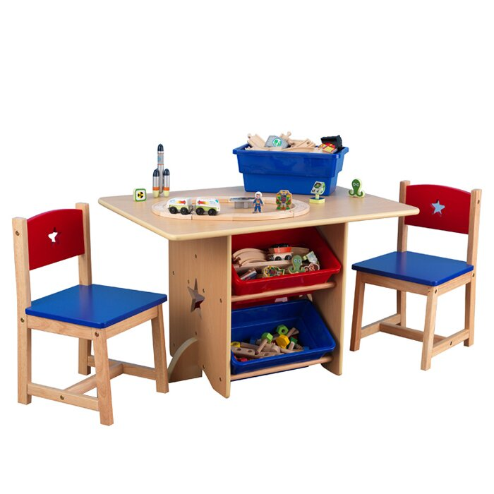 Star Kids 5 Piece Table and Chair Set  sc 1 st  Wayfair & KidKraft Star Kids 5 Piece Table and Chair Set \u0026 Reviews | Wayfair