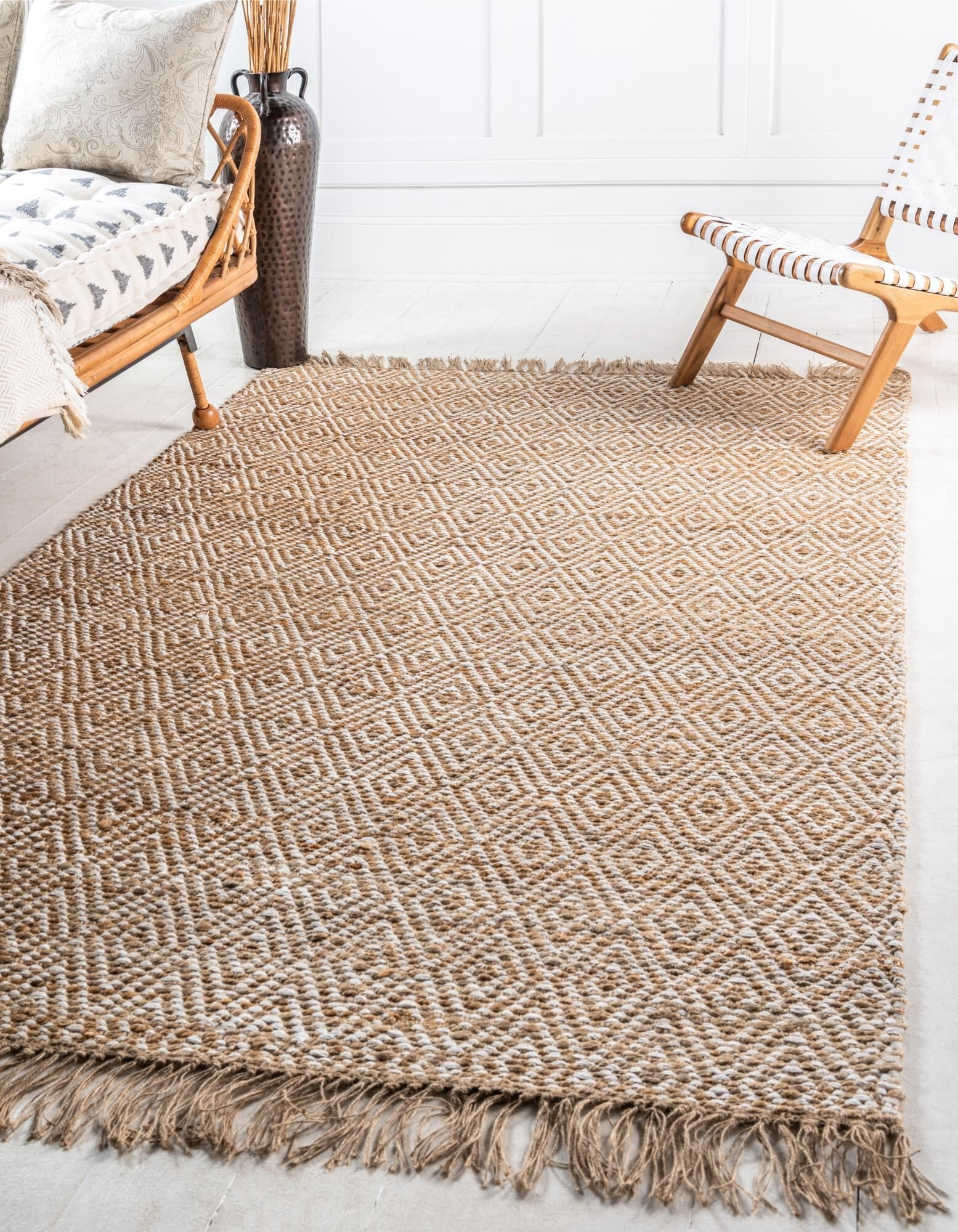 Mistana Deziree Geometric Handmade Braided Natural Rug Reviews Wayfair
