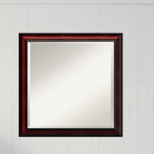 Darby Home Co Square Cherry Accent Wall Mirror
