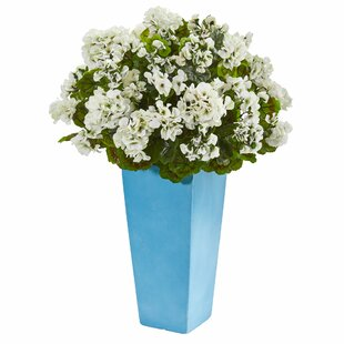Geranium Artificial Floral Arrangement in Planter