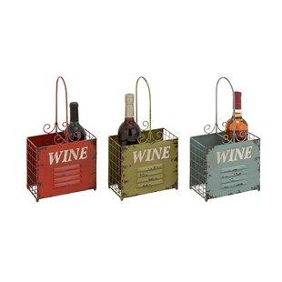 Brooten 2 Bottle Tabletop Wine Rack (Set of 3)
