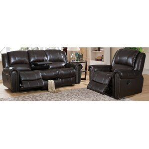 Charlotte 2 Piece Leather Living Room Set by Amax
