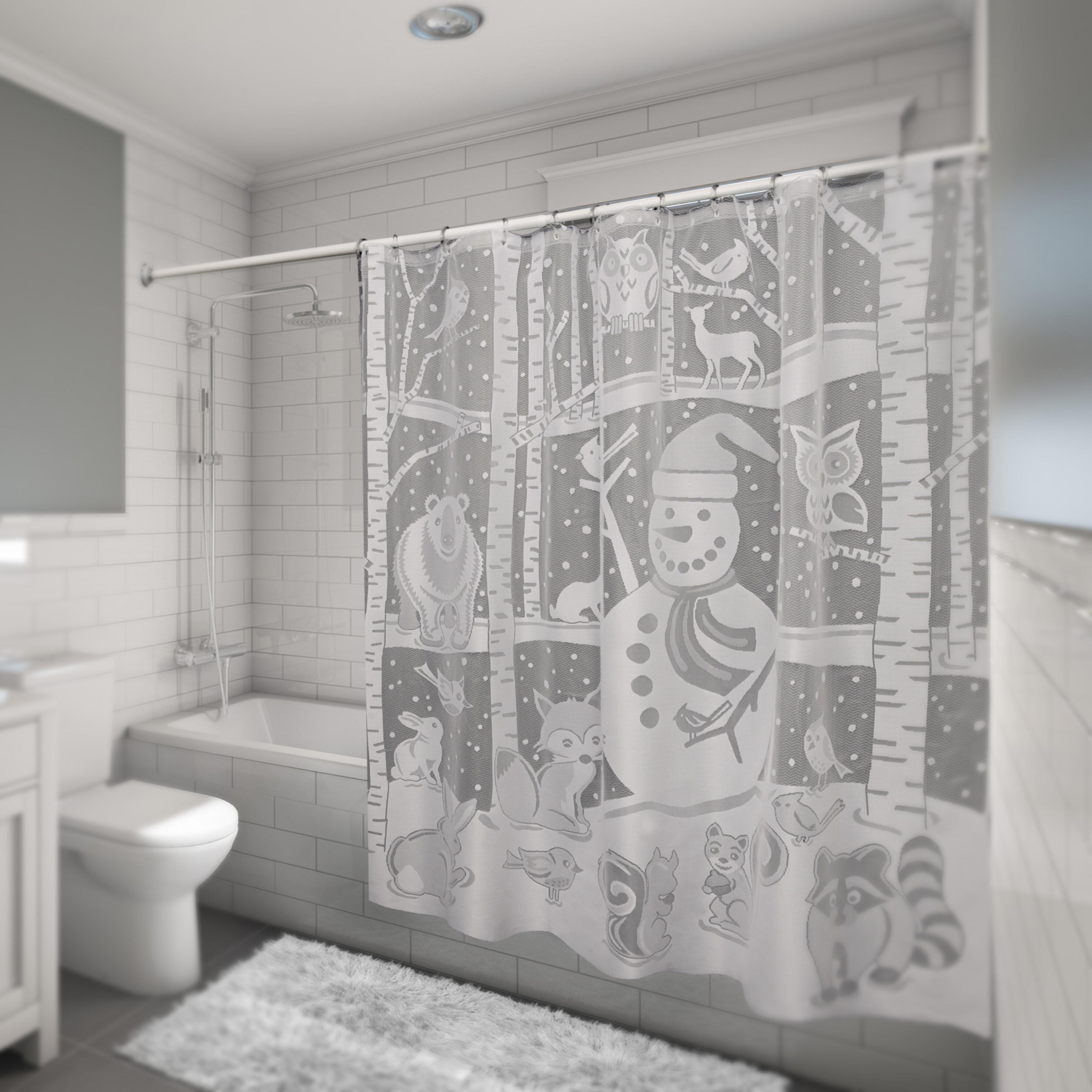 The Holiday Aisle Shanahan Snowman Single Shower Curtain Wayfair