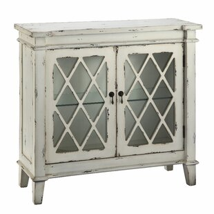 Cliffo 2 Glass Door Accent Cabinet by August Grove