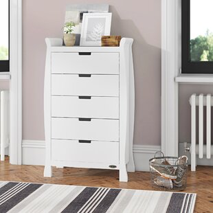 Stamford Sleigh Tall 5 Drawer Chest By Obaby