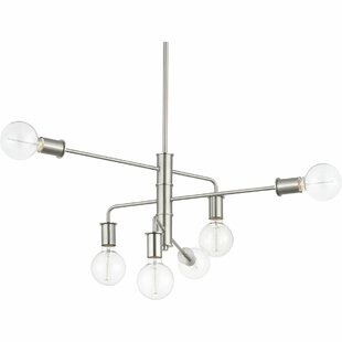 Wrought Studio Albus 6-Light Sputnik Chandelier