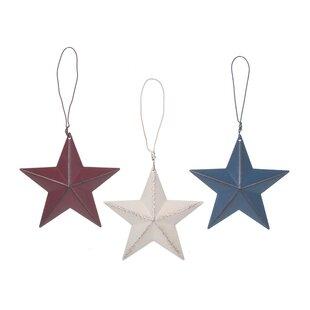 3 D Tin Star Wall Décor Set Of 36