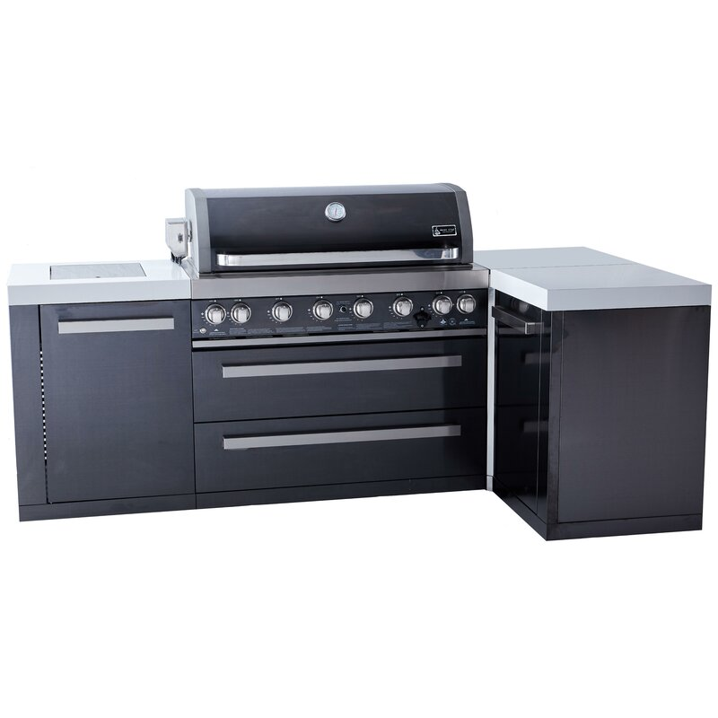 Mont Alpi 6 Burner Propane Gas Grill With Cabinet Wayfair