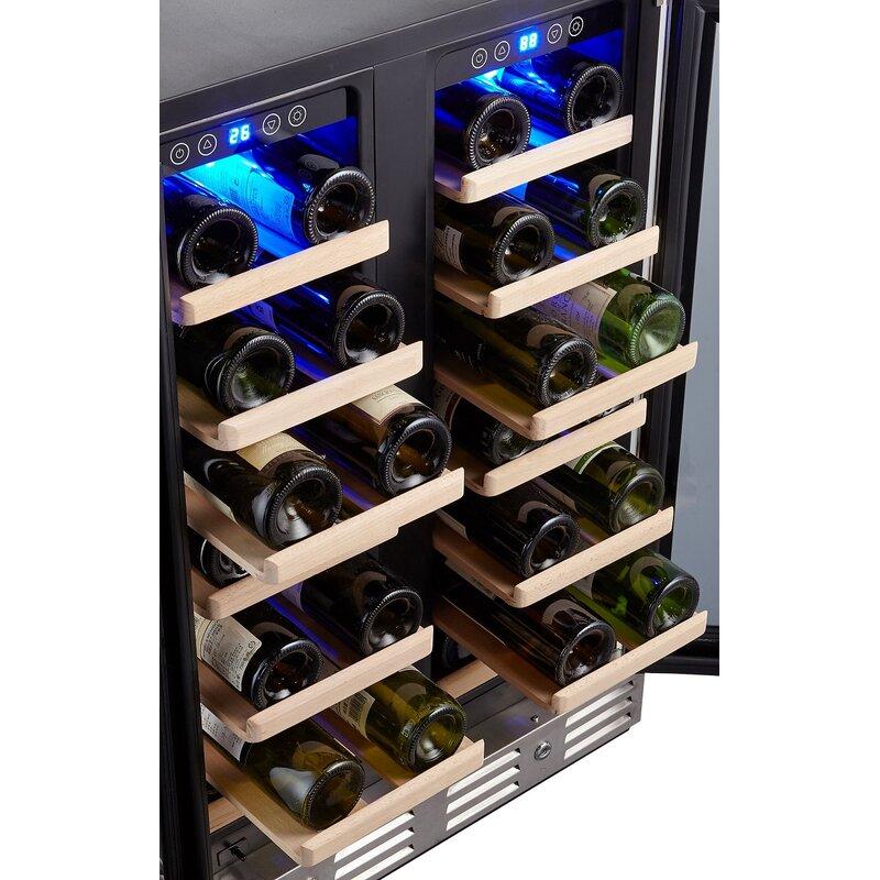 40 Bottle Dual Zone Built In Wine Cooler