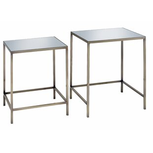 Danyel 2 Piece Nesting Table by Everly Quinn