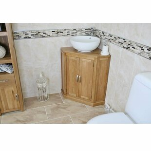 Elkins Solid Oak 55mm Free-Standing Vanity Unit By Gracie Oaks