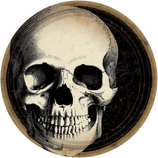 Halloween Skull Paper Appetizer Plate (Set of 60)
