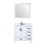 Michaella Left Version 36 Single Bathroom Vanity Set with Mirror by Wrought Studio™