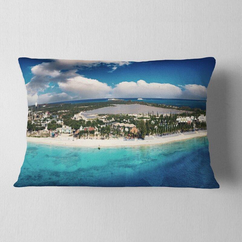 East Urban Home Seascape Caribbean Coast Tropical Panorama Lumbar Pillow Wayfair