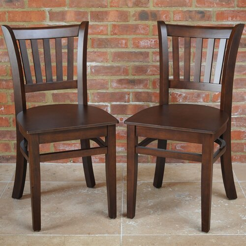 Keira Solid Wood Dining Chair Set Ophelia and Co. Colour: Dark Walnut