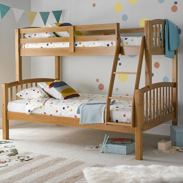 Viv Rae Aaliyah Triple Sleeper Bunk Bed With Mattresses Wayfair Co Uk